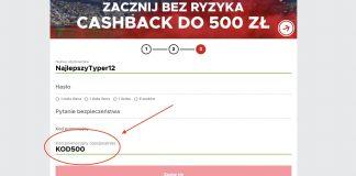 """Betclic cashback 500 zł. Aktywny kod promocyjny """"KOD500""""!"""