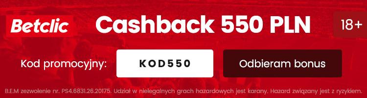 Betclic cashback 550